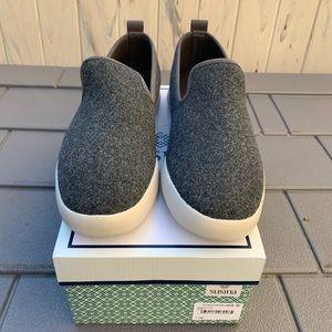 SUSINA Grey Maren  Slip On Sneakers Size 11